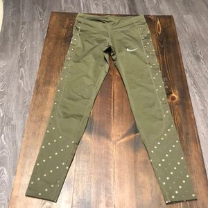 Olive green Nike workout pants